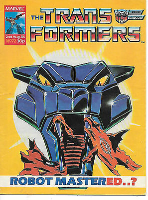 Transformers #72 (Marvel UK 1986, full colour throughout, 28 pages) high grade