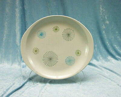 Atomic Era Stetson Creation Hand Decorated Cake Plate