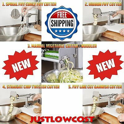 Nemco Spiral Curly Ribbon Vegetable Noodler Chip Twister Fine Garnish Fry Cutter