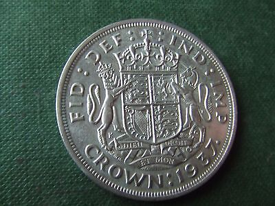 George Vi.   1937, Silver Crown.  Coronation Issue.  Nice Condition.