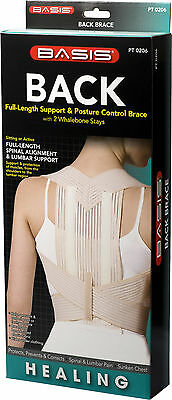 Back Full-Length Support & Posture Control Brace W/ 2 Whalebon Stays