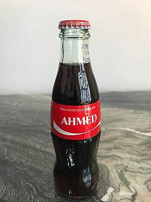 Ahmed Coca-Cola Name Share a Coke with Ahmed 8 oz Glass Bottle