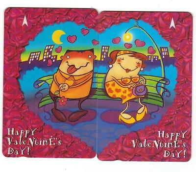 Singapore Happy Valentine's Day Phone card (2pcs, used)