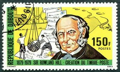DJIBOUTI 1979 150f SG759 used NG Sir Rowland Hill Death Centenary d #W29
