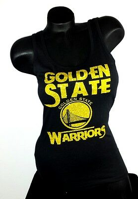 Golden State Warriors Jersey Ladies Tank Top with Shiny Lettering.Team Spirit!