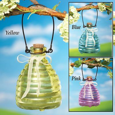 Attractive Glass Honeypot Bee Catcher Available In Multiple Colors