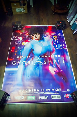 GHOST IN THE SHELL 4x6 ft Bus Shelter D/S Movie Poster Original 2017