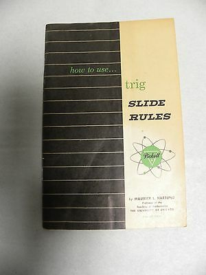 Vintage PICKETT Trig How To Use Slide Rule Manual Instructions (A3)