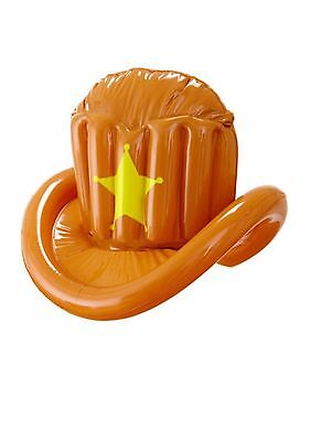 Inflatable Cowboy Hat for Wild West Dallas America Fancy Dress Accessory