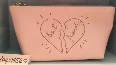BareMinerals Best Friend Makeup cosmetic bag pink CASE NEW Girls Bare Travel