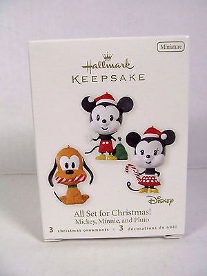 NEW Hallmark 2008 All Set for Christmas Disney Babies Miniature Ornaments