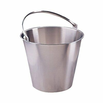 Jantex Stainless Steel Bucket 12Ltr Cleaning
