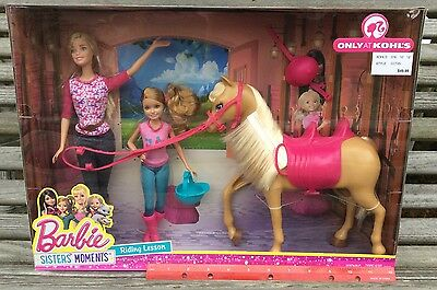 Barbie Tawny Stacie Pinktastic Sisters Moments Riding Lesson Kohl's Dolls Pony