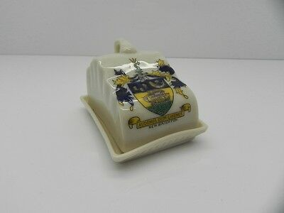 Antique Duchess Crested China Cheese Dish And Cover New Brighton Crest Miniature