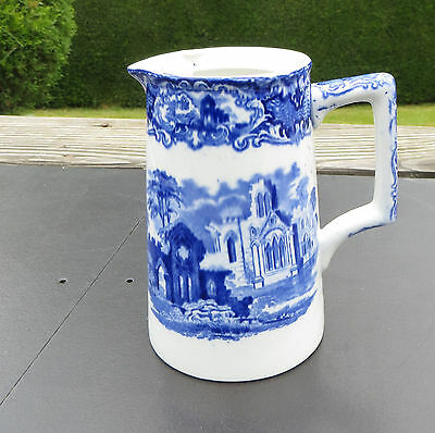 George Jones Blue And White Abbey Hot Water/Coffee Pot - No lid - Unusual lugs