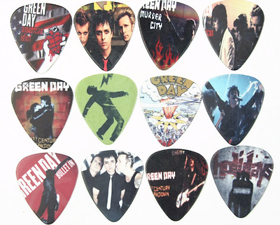 12 Plettri chitarra basso Green Day Punk Rock band guitar picks 1.00mm Heavy