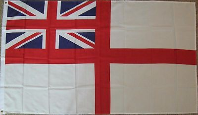 New 3' by 5' British Navy Ensign Flag (White Ensign). Free Ship in Canada!