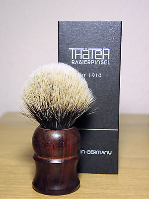 THÄTER Rasierpinsel 4304/3 Silbersperspitz 2-Band Cocobolo THATER Shaving Brush