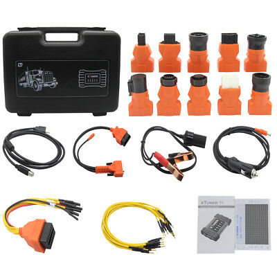 OBDII AUTO + J1939 J1708 Full Systems HD Heavy Duty Vehicle Scanner Code  Reader