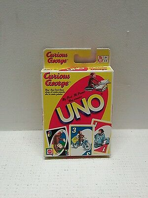 Curious George My First UNO Card Game King Size Cards Mattel 2005 Beginners 3+
