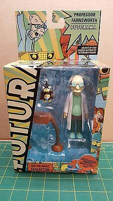Futurama Professor action Figure with Roberto build-a-bot part by Toynami