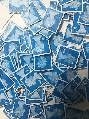 200 2nd Class Unfranked Stamps Off Paper all Security no Gum Excellent Quality