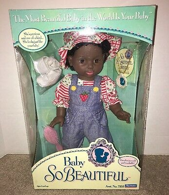 Playmates Baby So Beautiful 1995 AA  African American Doll Brown Eyes NEW #7355