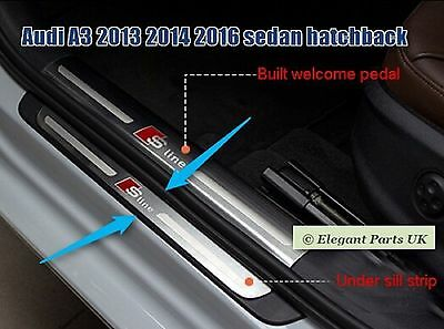 Door Sill Panel Scuff Plate Kick Step Protect for  Audi A3 2013 2014 2016 Sedan