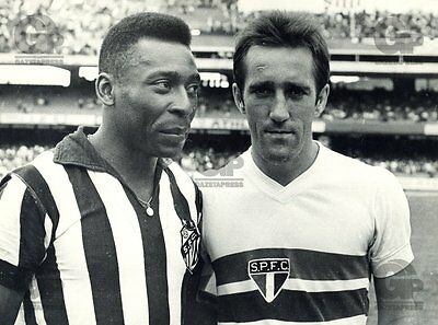 Rare Santos Pele Shirt Striped Away Match 70s Athleta #10 Vintage Pelé Brazil