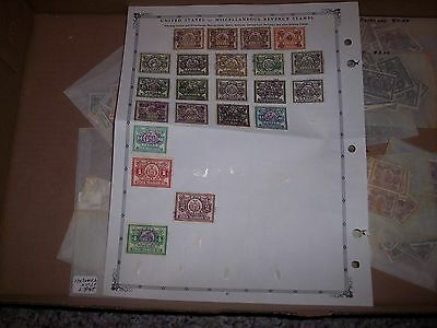 U.S. Perfins  New York Transfer Stock Stamps Album Pages & Stamps. Many Perfins