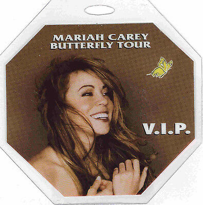 ******mariah Carey****** - 1998 Butterfly Tour - Laminated V.i.p. Backstage Pass