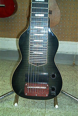 Dillion Non Pedal 8 String Lap Steel Guitar Flamed Maple Trans Black Burst