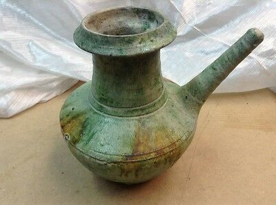 "Chinese Celadon Vase/pitcher 6 1/4"" Tall"