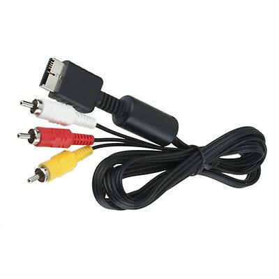 1.8M AV Audio Video Cable Cord for Sony PlayStation PS2 PS3 Console System Black