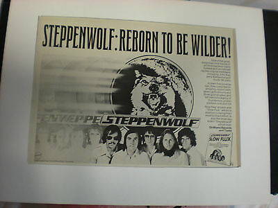 STEPPEN WOLF BORN TO BE WILDER   8x10 Poster 1970's Glossy Photo A RARE Find!