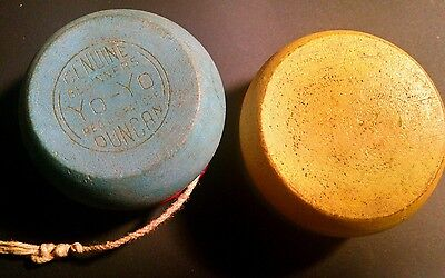 Vintage Wooden Genuine Beginners Duncan YO-YO-UNIVAC Advertising