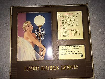 VINTAGE 1961 PLAYBOY DESK CALENDAR 1st Issue !!! EXTREMELY RARE !! MAKE OFFER !!