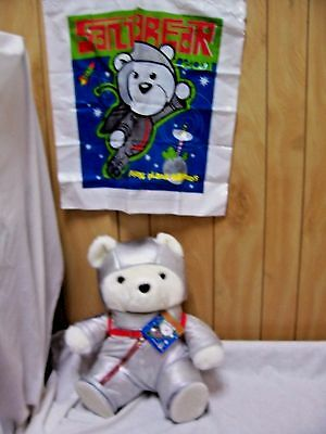 "16"" Marshall Fields Santa Bear ""Space Bear"" w/Tag & Original Bag! FREE Shipping!"