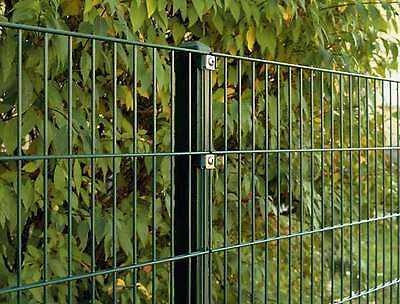 Double rod Mat Fence Set / Green / 163cm high / 10m long / fence Metal fence