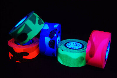 1 Inch UV Blacklight Reactive Cool Camo Fluorescent Gaffer Tape 1 Roll x  6YDS