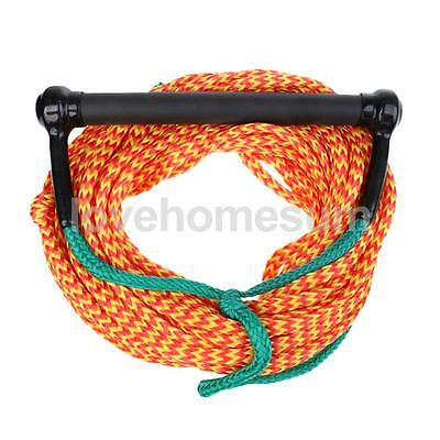 75ft PE Strong Water Ski Wakeboard Rope 1 Section Cord with EVA Handle Grip
