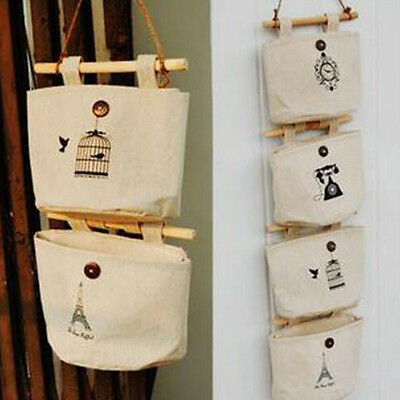 Fashion 1 Pcs Practical Cartoon Pattern Home Decor Hanging Hanger Storage Bag