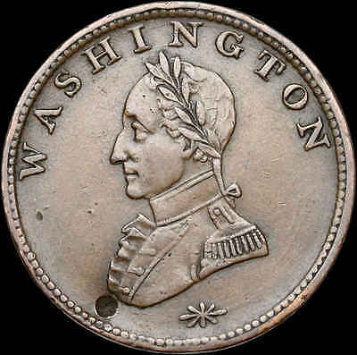 Colonial. Washington One Cent Copper, Double Head, 1783, Vlack 28-Y (SKU #F763)