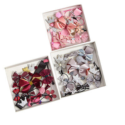 17PCS/SET Cute Kids Girls Baby Crown Hairpin Hair Clips Princess Barrette Rope