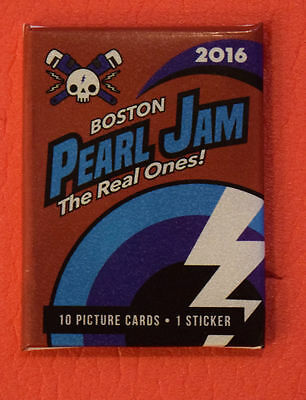 Pearl Jam Aug 5th 7th 2016 Fenway Park Boston Trading Cards Pack Baseball SEALED
