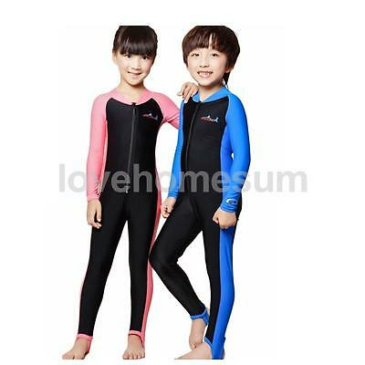 Child Kids Diving Suit Wetsuit Sun Protection Swimsuit Swimming Surfing Swimwear