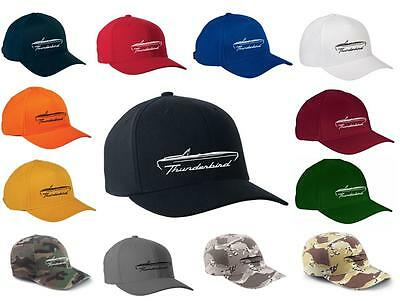 1964 1965 1966 Ford Thunderbird Convertible Classic Color Outline Design Hat Cap