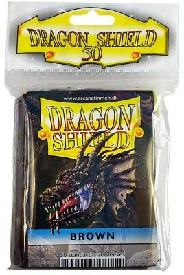 Dragon Shield - Brown 50 protective Sleeves - Standard Cases e.g. for Magic