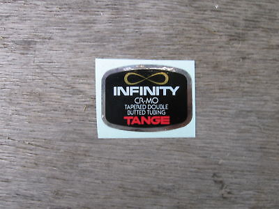 Tange Infinity Cro Mo Bike Bicycle Frame Tube Decal Sticker Vintage Not Remade!