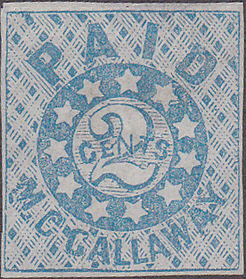 Confederate New Orleans 62X5 Postmaster Provisional Stamp Catalog Value $250.